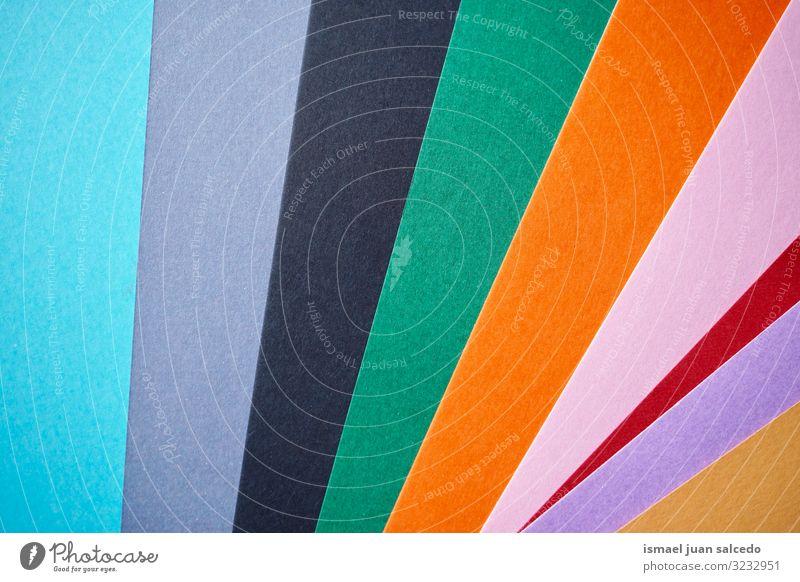 bunte Papierdekoration, mehrfarbiger Hintergrund Farbe abstrakt Hintergrund neutral Hintergrundbild Konsistenz Linie Muster Dekoration & Verzierung Design