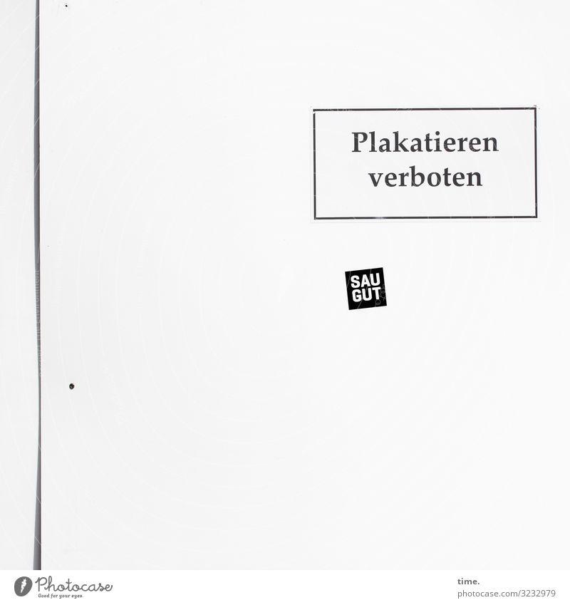 Geschriebenes | Verbot & Wirkung Freude Leben Wand Kunst Mauer Design Dekoration & Verzierung hell Linie Schriftzeichen Schilder & Markierungen Fröhlichkeit