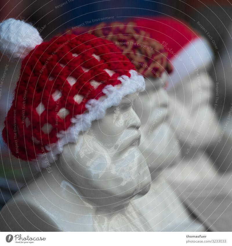 Karl Marx als Weihnachtsmann Gesicht Dekoration & Verzierung Weihnachten & Advent maskulin Männlicher Senior Mann Kopf 1 Mensch 60 und älter Kunst Skulptur