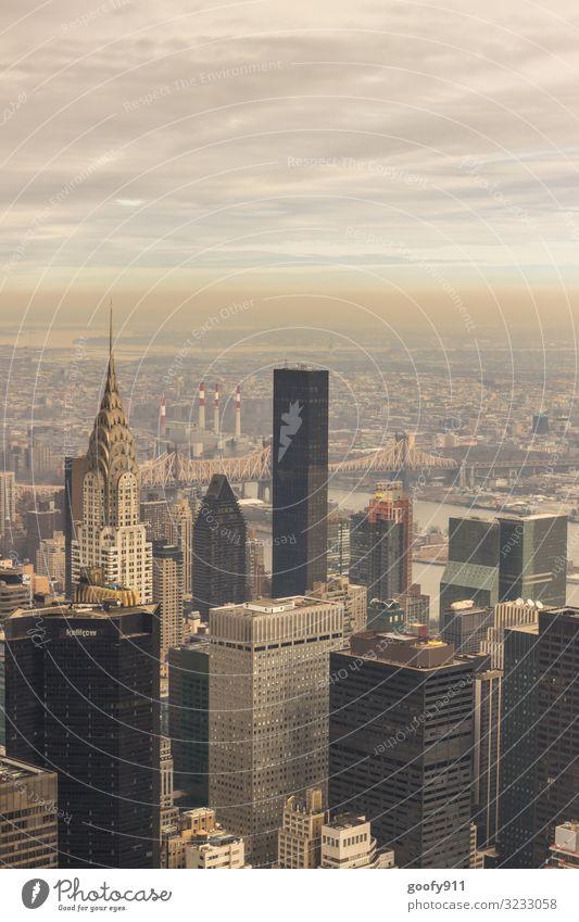 Chrysler Building NY Ferien & Urlaub & Reisen Tourismus Ausflug Abenteuer Ferne Freiheit Sightseeing Städtereise Himmel Wolken Horizont New York City Stadt