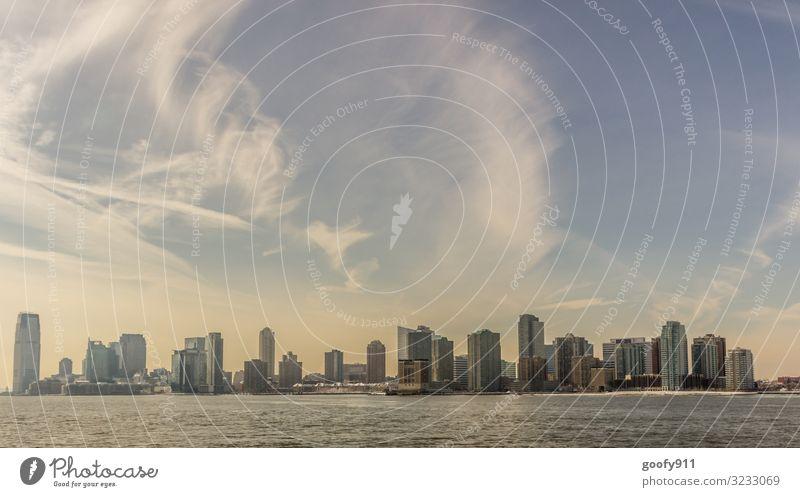 New Jersey NY Ferien & Urlaub & Reisen Tourismus Ausflug Abenteuer Ferne Freiheit Sightseeing Städtereise Wasser Himmel Wolken Horizont Sonnenlicht