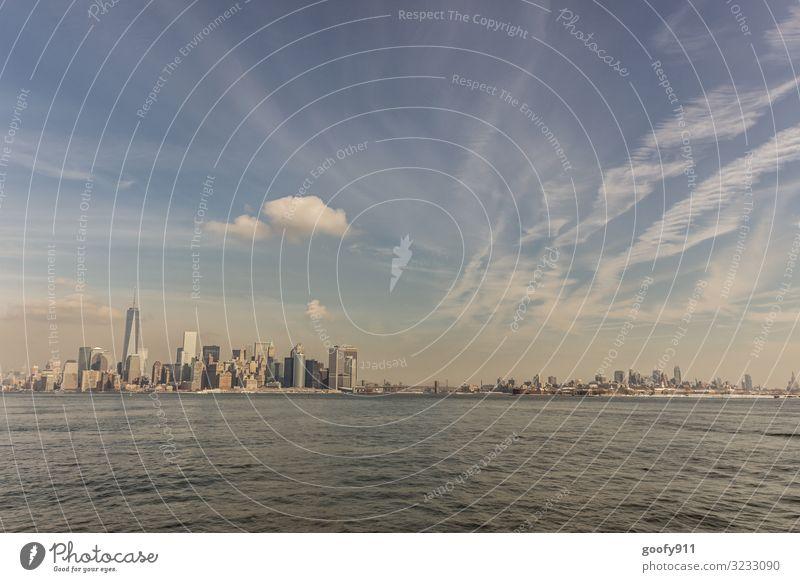 NY und Brooklyn Ferien & Urlaub & Reisen Tourismus Ausflug Abenteuer Ferne Freiheit Sightseeing Städtereise Wasser Himmel Wolken Horizont New York City Stadt