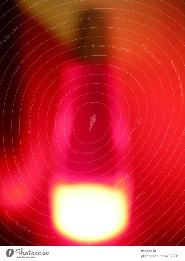 verschwommen Sonne rot Lampe rosa Häusliches Leben Lavalampe