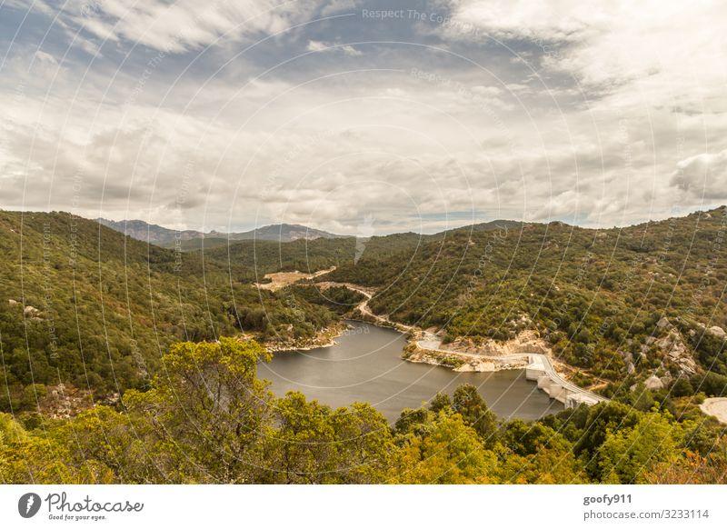 Korsikas Hinterland Ferien & Urlaub & Reisen Tourismus Ausflug Abenteuer Ferne Freiheit Safari Expedition Umwelt Natur Landschaft Wasser Himmel Wolken Horizont