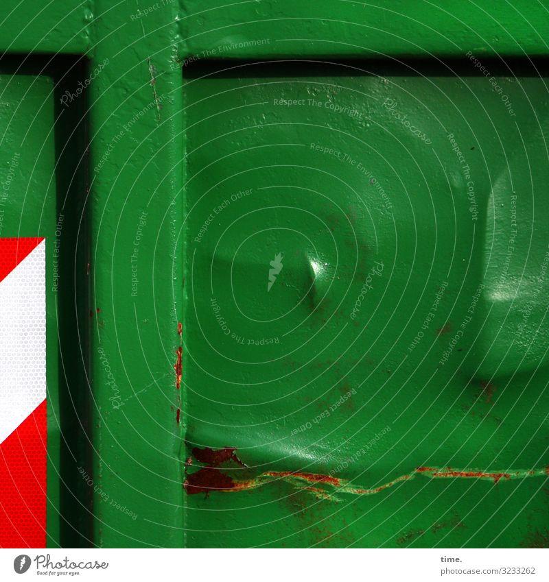 Kraftakt Arbeit & Erwerbstätigkeit Arbeitsplatz Güterverkehr & Logistik Dienstleistungsgewerbe Container Metall Rost Zeichen Schilder & Markierungen
