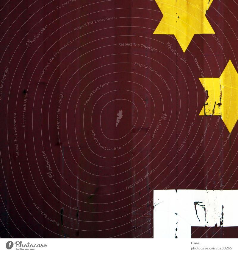 Luxuscontainer weiß rot dunkel gelb lustig Zeit braun Arbeit & Erwerbstätigkeit Stimmung Design Dekoration & Verzierung Linie Metall Kommunizieren Ordnung