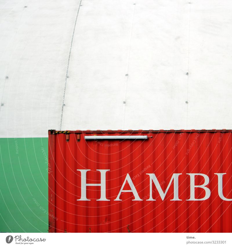Italienische Verhältnisse Hamburg Stadtzentrum Bauwerk Gebäude Mauer Wand Dach Container Dekoration & Verzierung Zelt Metall Kunststoff Schriftzeichen Linie