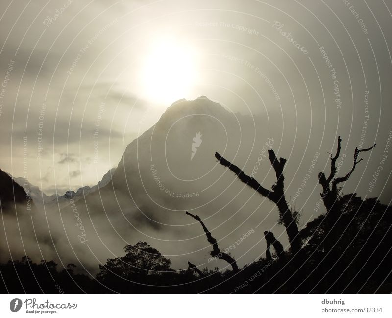 mystic mountain Sonne Berge u. Gebirge Nebel Neuseeland