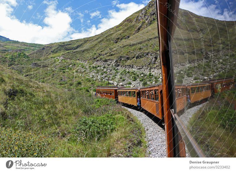 Andean railway in Alausi Ecuador goes to the devil's nose Ferien & Urlaub & Reisen Umwelt Natur Landschaft Himmel Klima Klimawandel Wetter Schönes Wetter andean