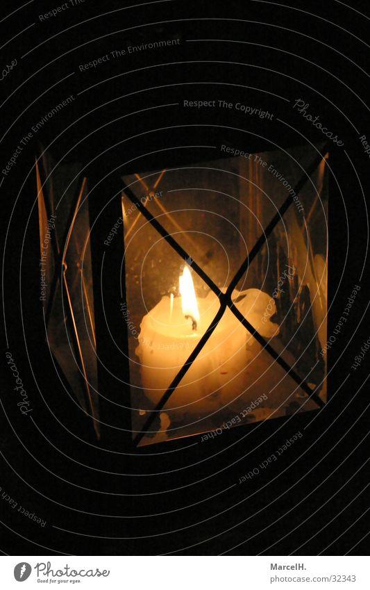 Kerzenschein gelb Wachs antik Lampe Handwerk