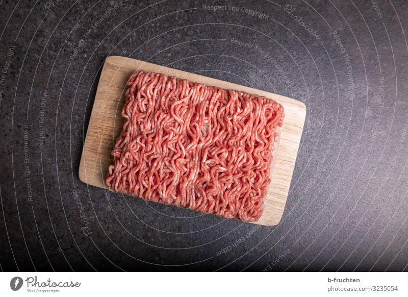 Hackfleisch Lebensmittel Fleisch Ernährung Gesunde Ernährung Küche wählen genießen frisch Gesundheit Schneidebrett Rindfleisch Schweinefleisch Innenaufnahme