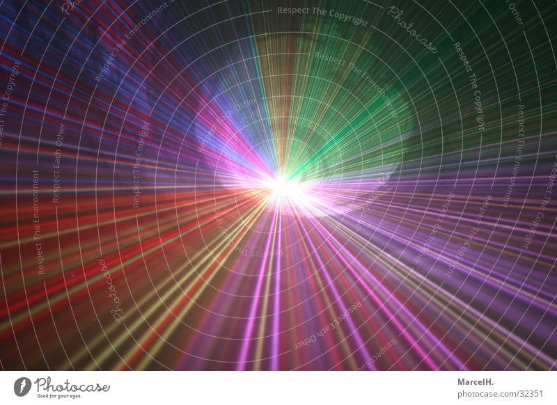 Lasershow Himmel blau grün Feste & Feiern Party rosa Nebel Technik & Technologie Show violett Club Disco Reaktionen u. Effekte Elektrisches Gerät