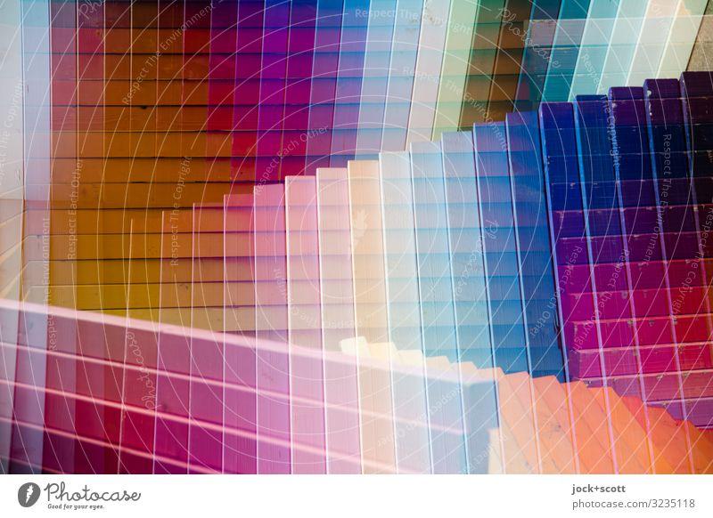 Muster trifft Linien = Karo Design Grafik u. Illustration Dekoration & Verzierung Sammlung Holz Netzwerk Oberfläche Oberflächenstruktur außergewöhnlich eckig