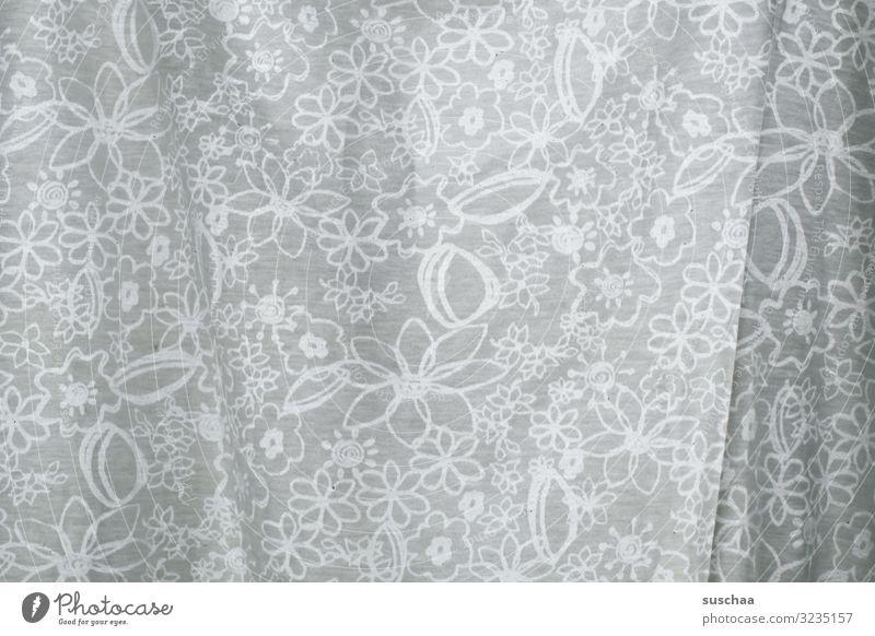 (aus)gemustert Muster Blümchenmuster Stoffmuster Gardine Vorhang T-Shirt durchsichtig Durchsicht Licht hindurchsehen Blumen Blüten bedruckt Hintergrund