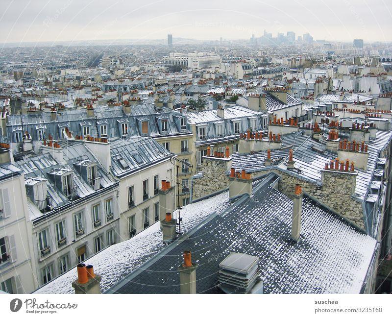 über den dächern von paris (im winter) Paris Frankreich Europa Europäische Union Stadt Großstadt Hauptstadt Skyline Dach Horizont Wiedererkennungswert