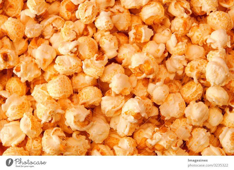 """Popcorn Lebensmittel Ernährung Fastfood Popkorn Hintergrundbild Knabbereien lecker genießen Langeweile """"hintergrund detailliert nahaufnahme knabberei knabbern"""