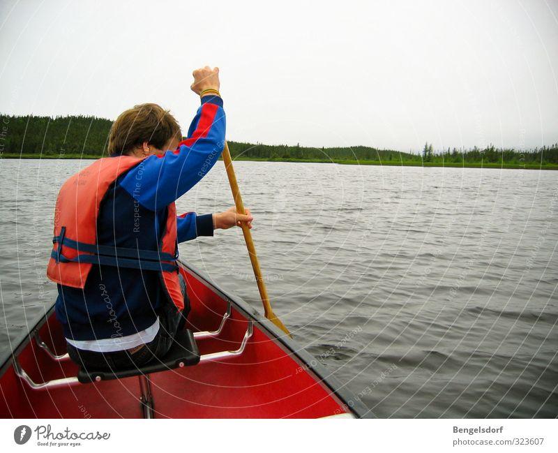 Paddel the world Mensch Natur Ferien & Urlaub & Reisen Jugendliche Sommer Erholung ruhig Leben Sport Gesundheit Schwimmen & Baden See maskulin Freizeit & Hobby
