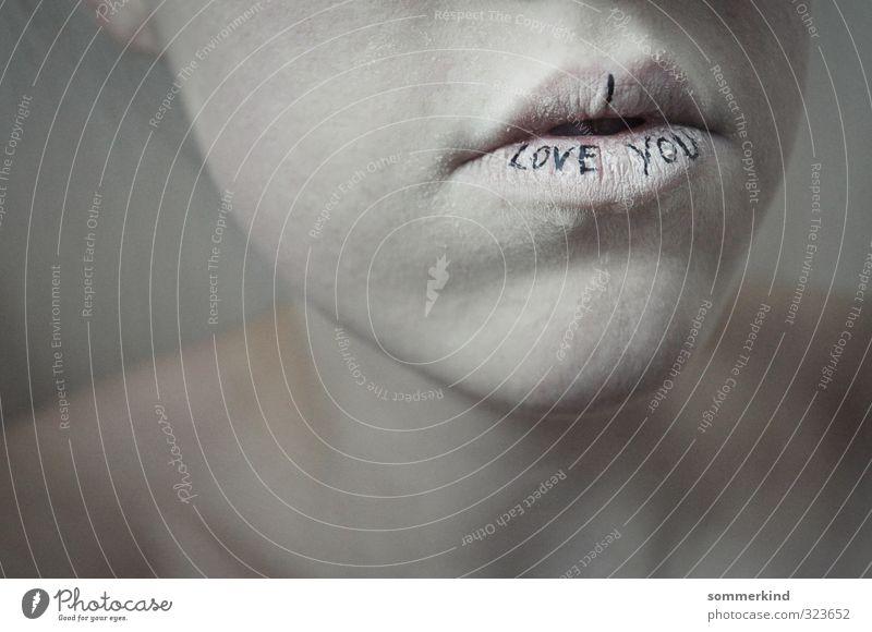Lippenbekenntnis Mensch Jugendliche weiß Junge Frau 18-30 Jahre Erwachsene Leben Gefühle Liebe Haut Mund Romantik Risiko Vertrauen Mut