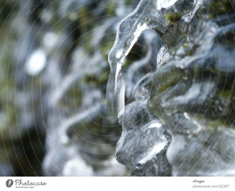 Eisgrün Wasser kalt Wellen Frost