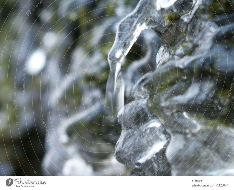 Eisgrün Wellen kalt erstarrt Erstarrung Strukturen & Formen Frost Wasser