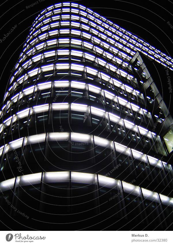Vattenfall Tower Licht Gebäude Hochhaus Nacht Stadt Architektur Skyline Light