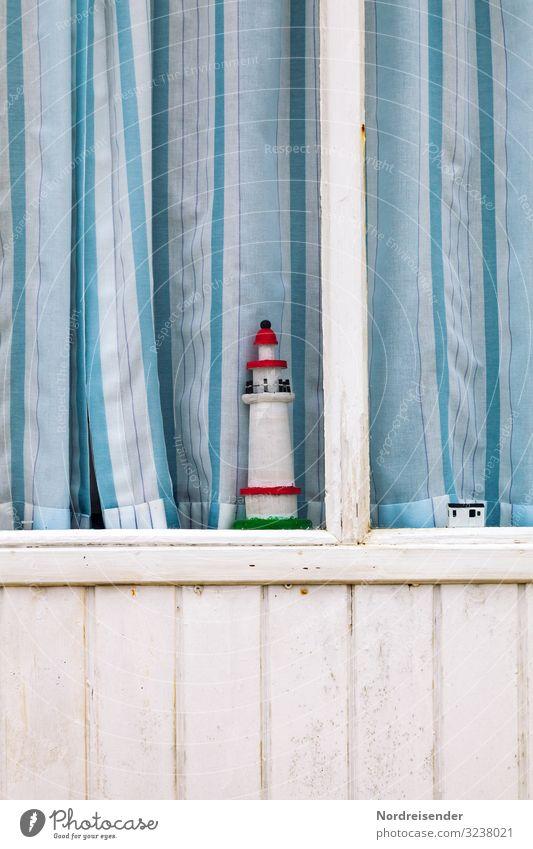 Fensterschmuck Ferien & Urlaub & Reisen Meer Ferne Tourismus Fassade Häusliches Leben Dekoration & Verzierung Idylle Lebensfreude einfach Freundlichkeit Ostsee