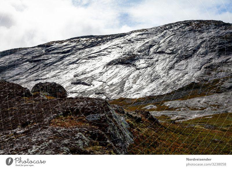 Matter Glanz auf den Felsen Himmel Ferien & Urlaub & Reisen Natur alt Landschaft Wolken Ferne Berge u. Gebirge Freiheit Stein Stimmung Regen wandern Wetter