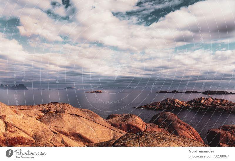 Traumwelten Himmel Ferien & Urlaub & Reisen Natur Wasser Landschaft Meer Wolken ruhig Ferne Berge u. Gebirge Küste Freiheit Stein Felsen träumen Insel