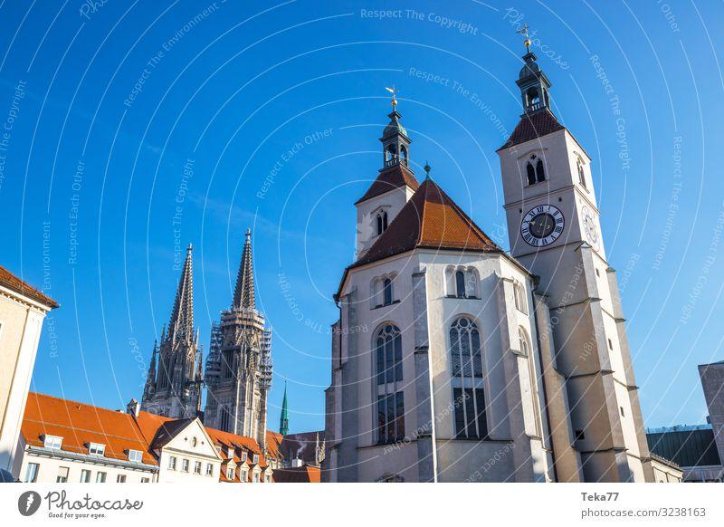 Regensburg #1 Winter ästhetisch Religion & Glaube Bayern Donau Landkreis Regen Farbfoto Außenaufnahme