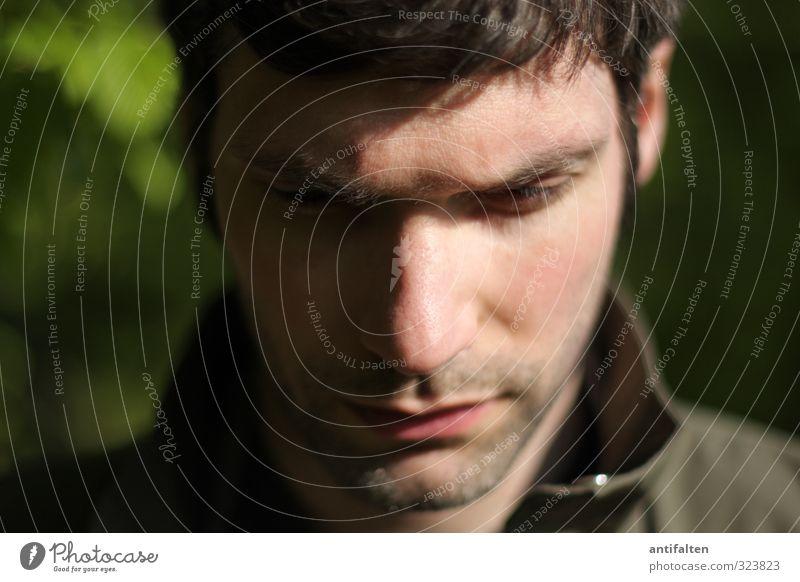 Glückwunsch... maskulin Mann Erwachsene Freundschaft 1 Mensch 30-45 Jahre Haare & Frisuren schwarzhaarig brünett Dreitagebart Identität Denken nachdenklich