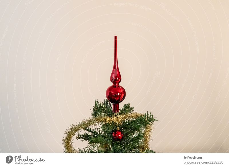 Weihnachtsbaum Party Feste & Feiern Weihnachten & Advent Dekoration & Verzierung Kitsch Krimskrams Zeichen Kugel glänzend Blick ästhetisch dunkel rot