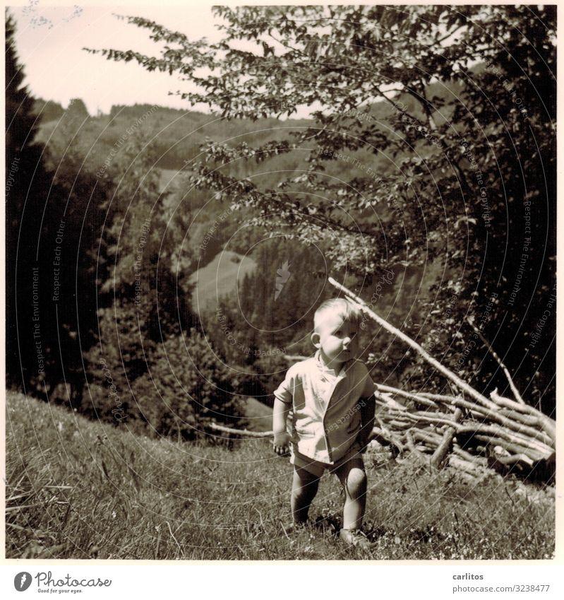 Im Frühtau zu Berge ... Fünfziger Jahre Kind Junge wandern Ausflug Schwarzwald Familie & Verwandtschaft Zusammensein