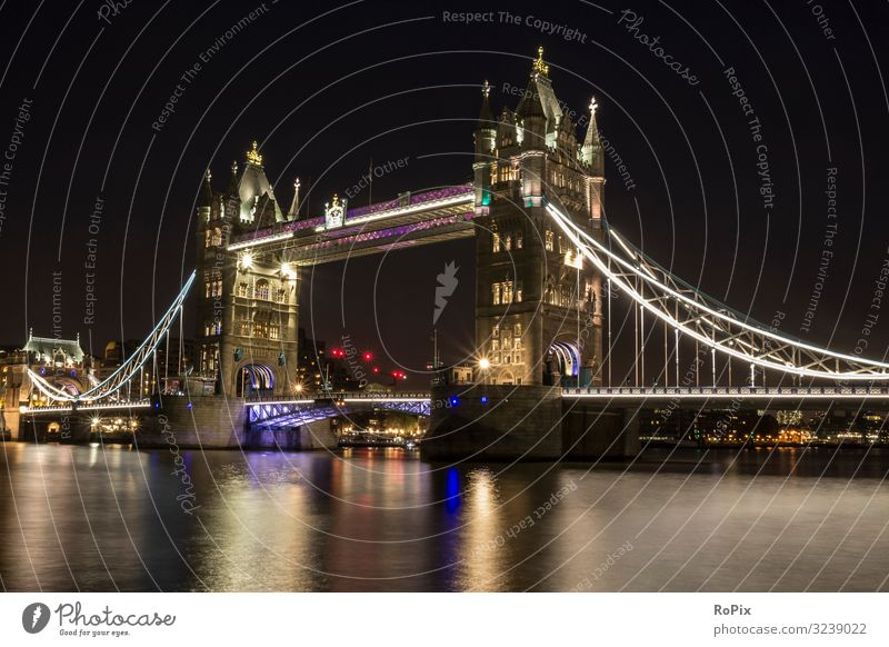 Nacht in London. Lifestyle Stil Leben harmonisch ruhig Ferien & Urlaub & Reisen Tourismus Sightseeing Städtereise Arbeit & Erwerbstätigkeit Wirtschaft Handel