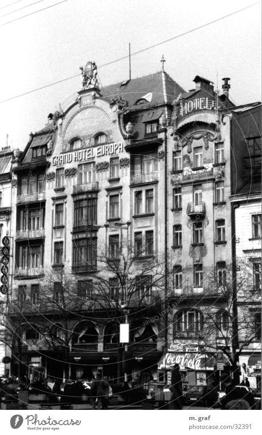 Jugendstilfassade Haus Architektur Fassade Prag Jugendstil