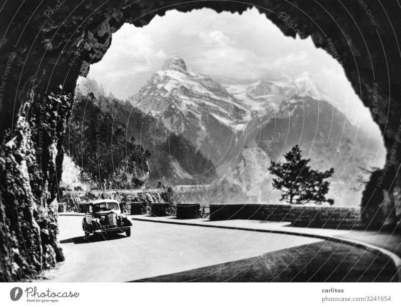 Tor zur Welt Ferien & Urlaub & Reisen Reisefotografie Berge u. Gebirge PKW Alpen Tunnel Oldtimer erleben