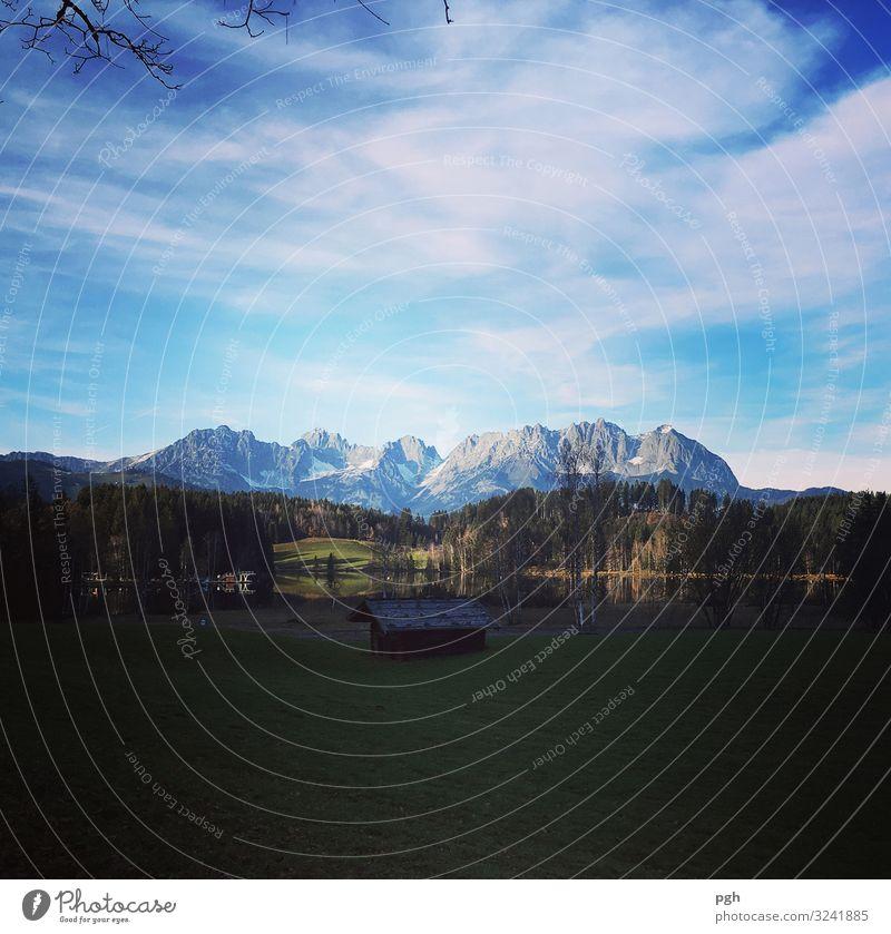 Kaiserwetter am Schwarzsee Ferien & Urlaub & Reisen blau Wasser Erholung Wolken ruhig Wald Ferne Berge u. Gebirge Herbst Sport Bewegung Tourismus