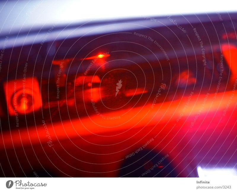 Laserpunkt Licht rot Fototechnik Scannerkassen