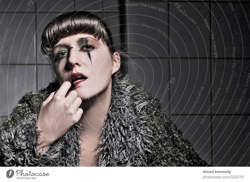 Make Up Artist Stil Gesicht Schminke Lippenstift Nachtleben Entertainment Party Veranstaltung ausgehen Feste & Feiern Karneval Halloween feminin Junge Frau