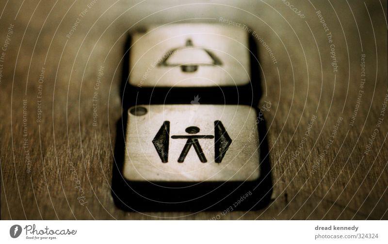 Enter Zeichen Schriftzeichen Schilder & Markierungen Hinweisschild Warnschild Design Fahrstuhl Anstecker Eingang Ausgang Klingel Taste Tür Gedeckte Farben