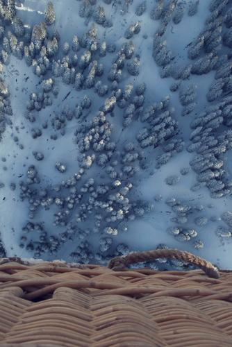 Winterballooning Himmel Natur Baum Freude Wald Schnee Sport fliegen Eis Luft Schönes Wetter Abenteuer Frost fahren Alpen