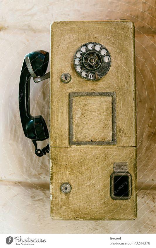 altes Wandtelefon - Havanna, Kuba Kaffee Dekoration & Verzierung Telefon Telefongespräch Coolness einzigartig niedlich retro schwarz altehrwürdig Kommunikation