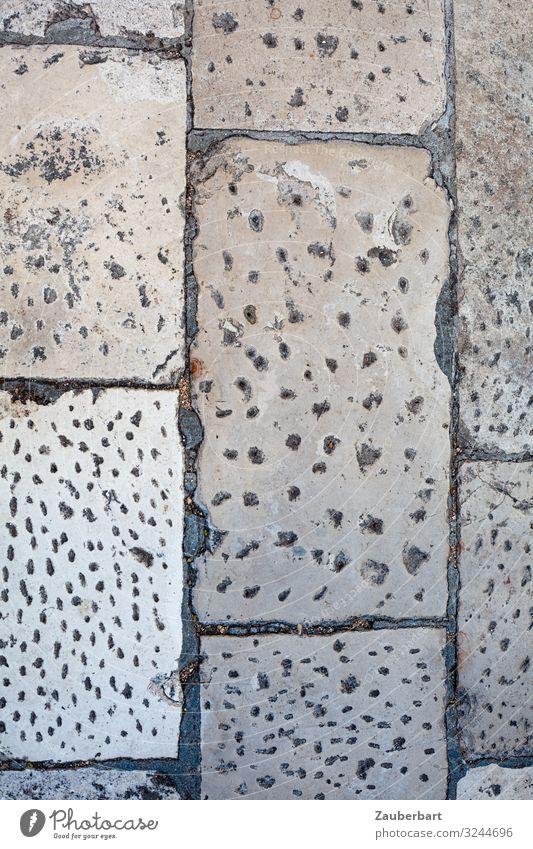 Pflastersteine in Zadar, Kroatien Straße Bürgersteig Pflasterweg Stein gehen Blick eckig historisch grau diszipliniert Ausdauer Ordnungsliebe planen Präzision