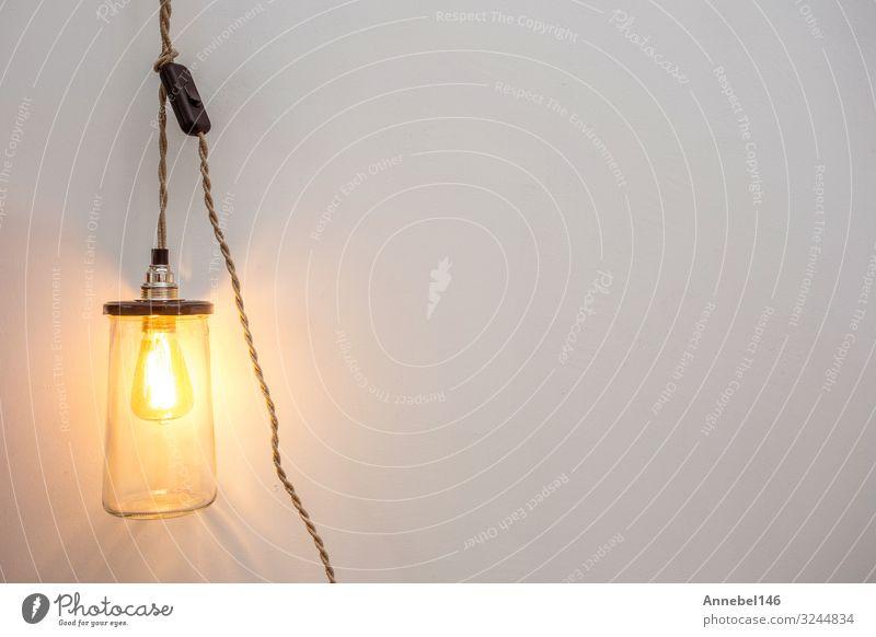 Wunderschöne Retro-Luxus-Innenlampe mit Glühbirnenbeleuchtung Design Dekoration & Verzierung Lampe Feste & Feiern Technik & Technologie Kunst Architektur alt