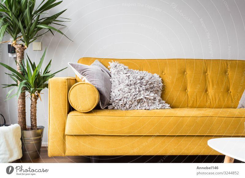Stilvolles Wohnambiente mit komfortablem Komfort Design schön Erholung Wohnung Haus Dekoration & Verzierung Möbel Lampe Sofa Stuhl Tisch Pflanze Baum Platz Mode