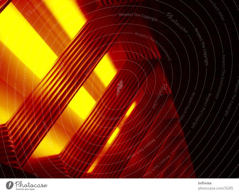 Glühende Energie glühen Architektur Wärme Schmelzofen. Hitze