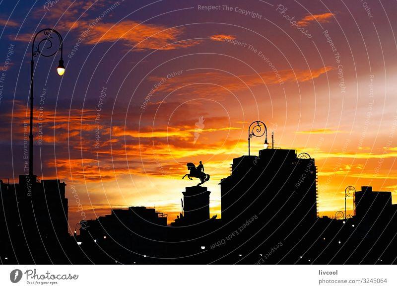 sonnenuntergang in havanna, kuba Lifestyle schön Erholung Sonne Landschaft Himmel Wolken Kleinstadt Stadt Skyline Gebäude Architektur Denkmal Linie alt