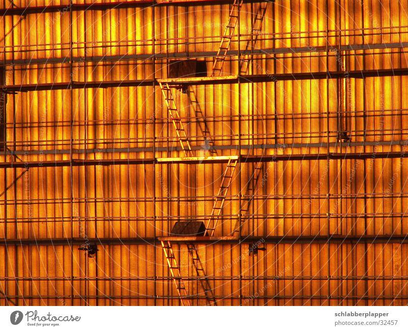 simply golden Haus Sonnenuntergang Gitter Architektur Leiter