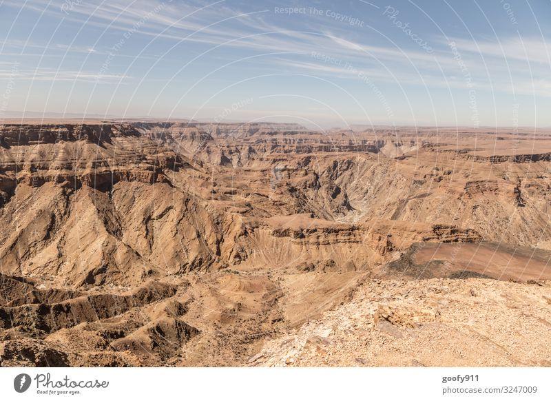 Fish River Canyon / Namibia Ferien & Urlaub & Reisen Tourismus Ausflug Abenteuer Ferne Freiheit Safari Expedition Umwelt Natur Landschaft Erde Sand Himmel