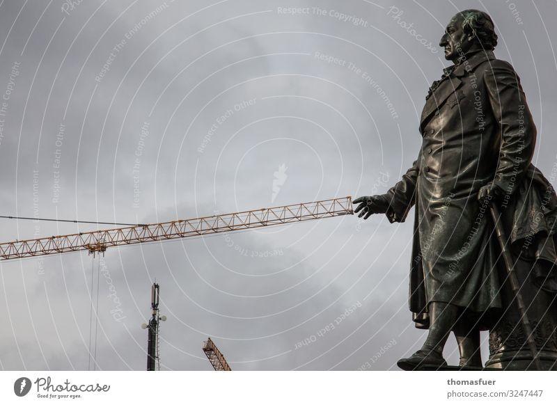 Reichsfreiherr Heinrich Friedrich Karl vom und zum Stein (1757 - 1831) vor dem Abgeordnetenhaus Berlin Baustelle Kunst Kunstwerk Skulptur Berlin-Mitte