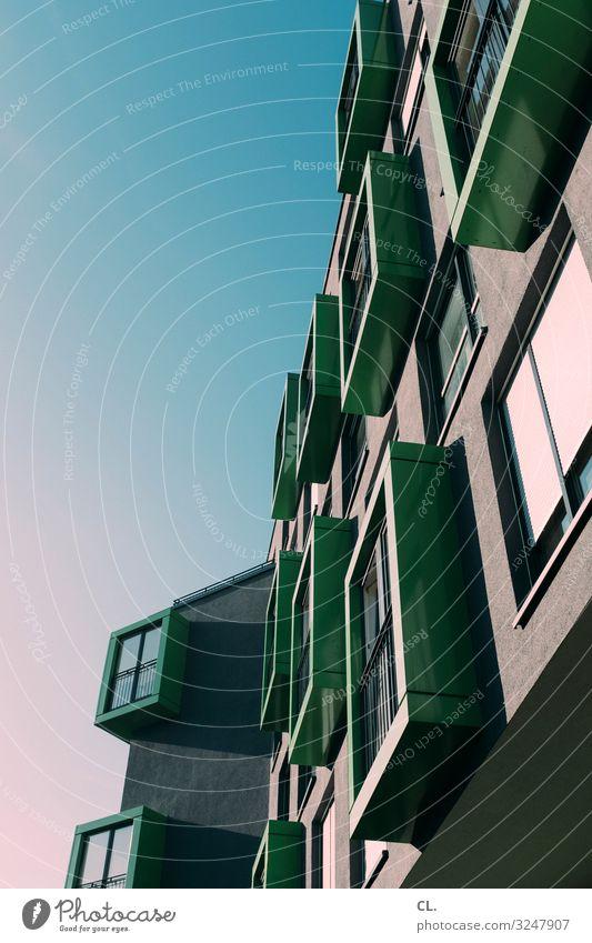 adventskalender Wirtschaft Baustelle Himmel Wolkenloser Himmel Schönes Wetter Düsseldorf Deutschland Stadt Haus Hochhaus Bauwerk Gebäude Architektur Fassade